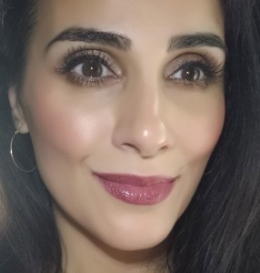 It Cosmetics Your Lips But Better Waterproof Lip Liner Stain in Spicy Nude with Dior Addict Fluid stick in 893 Trompe L'Oeil almost 4 hours later.