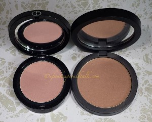 Giorgio Armani 503 Daybreak Cheek Fabric vs. Giorgio Armani Sheer Blush 4 Sand.