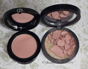 Giorgio Armani 503 Daybreak Cheek Fabric vs. Giorgio Armani Sheer Blush 10 Beige.
