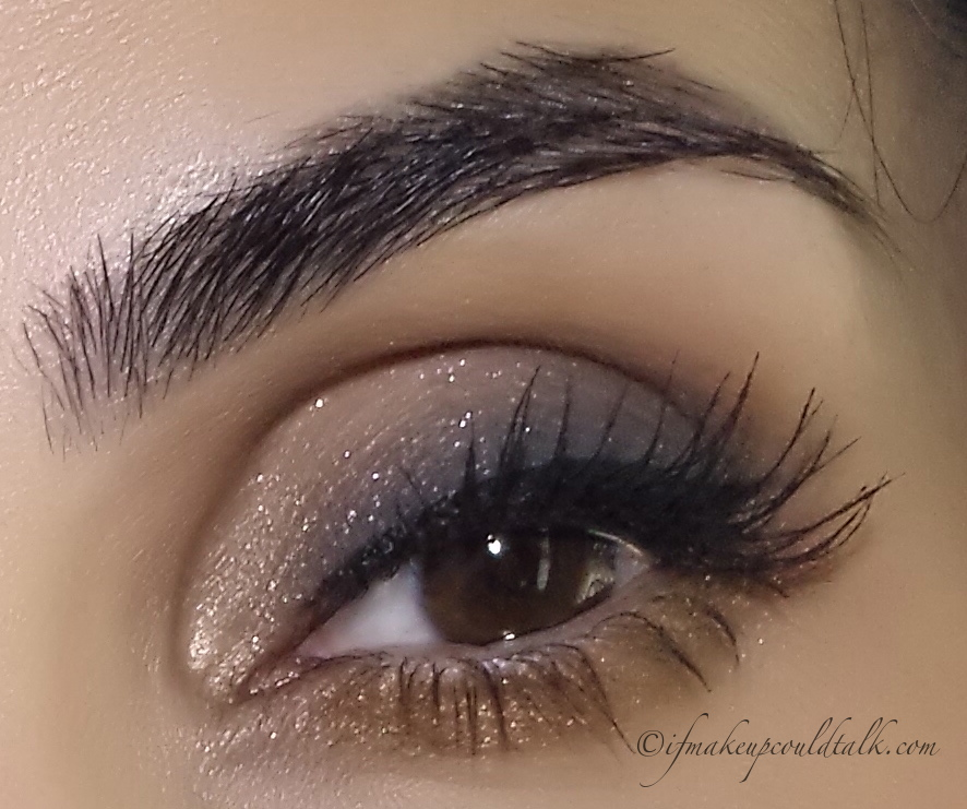 Makeup of the Week: Budge Proof Eye Makeup: Givenchy Ombre Couture Cream Eyeshadow 7 Gris Organza topped lightly with 01 Blanc Satin.