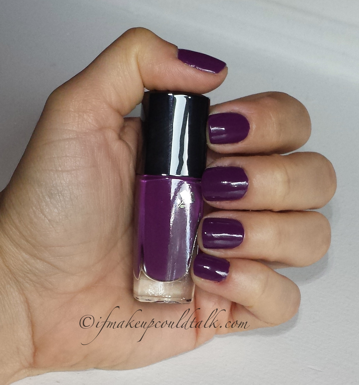 Connu Lancome 441N Midnight Rose Vernis In Love review and photos. - If  FH76
