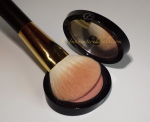Giorgio Armani 503 Daybreak Cheek Fabric with Tom Ford Cheek Brush.