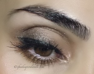 Look 2: Giorgio Armani #9 Tadzio Eyes to Kill Solo applied to the upper lash line and crease.
