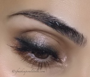 Look 3: Giorgio Armani #9 Tadzio Eyes to Kill Solo along the upper lash line mixed with Bobbi Brown Espresso Eyeshadow.