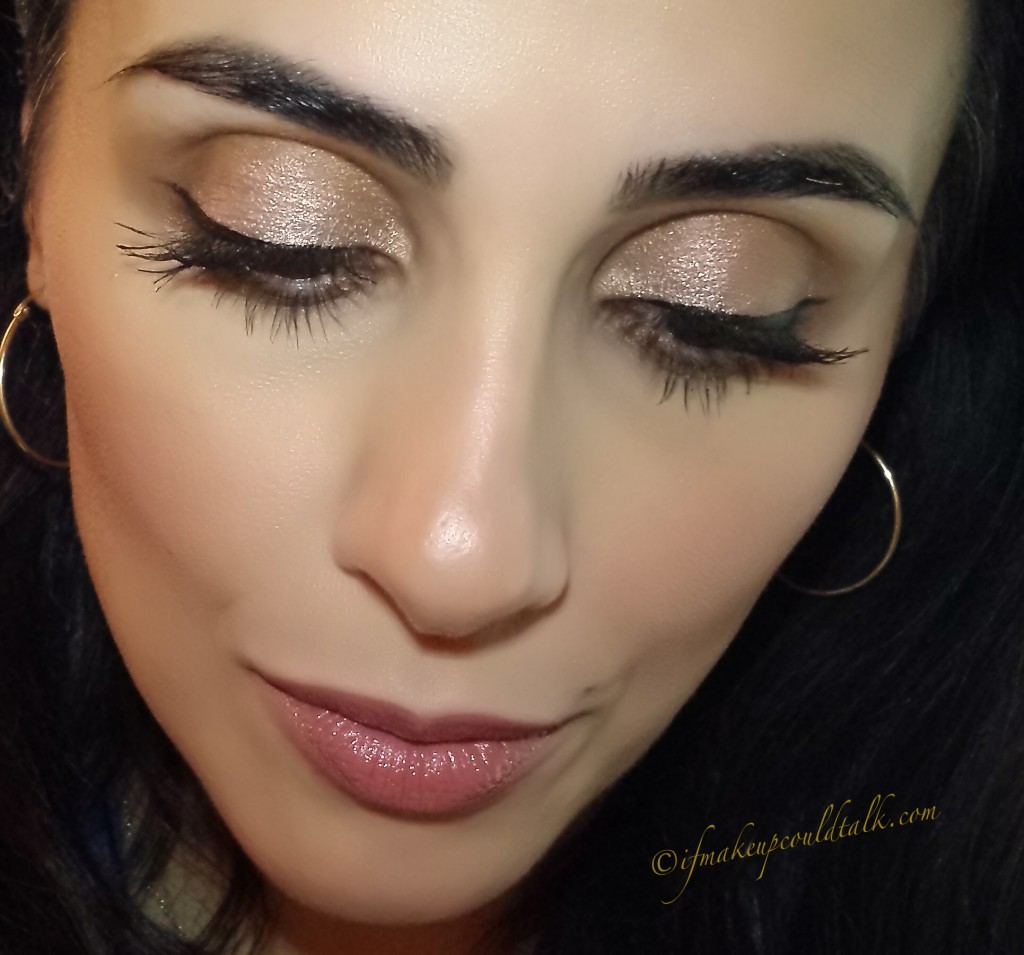Estee Lauder 04 Crystal Baby Pure Color Illuminating Powder Gelee Blush over YSL 07 Gold Star Effet Faux Cils Creme D'Eyeliner.
