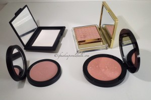 Compact Comparisons: Nars, Estee Lauder and Vincent Longo and Giorgio Armani.