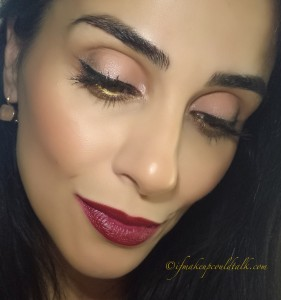 Vincent Longo Sandalwood Dew Drop Radiant Blush with Estee Lauder 04 Crystal Baby Pure Color Gelee Blush on the eyes and cheeks.