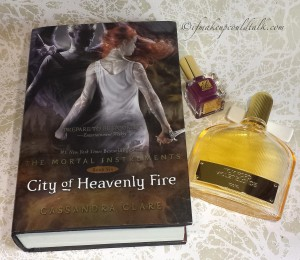 Current Favorites: City of Heavenly Fire, Tom Ford Violet Blonde Perfume,Estee Lauder Insolent Plum Nail Lacquer.