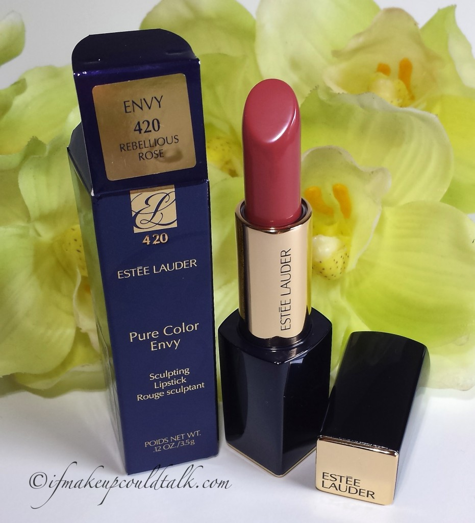Estee Lauder Rebellious Rose 420 Pure Color Envy Lipstick.
