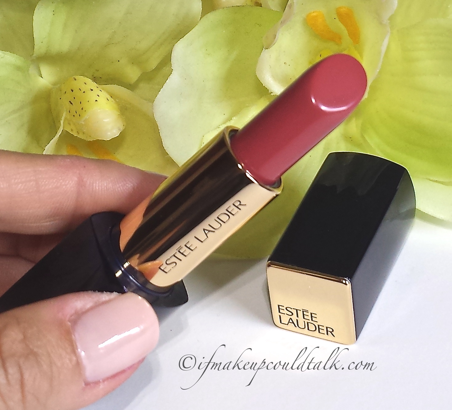 Estee Lauder Rebellious Rose 420 Pure Color Envy Lipstick Review And Swatches