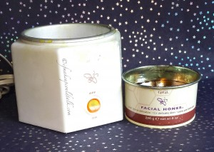 Personal Care Essentials: Gigi Space Saver Wax Warmer and Gigi Honee.