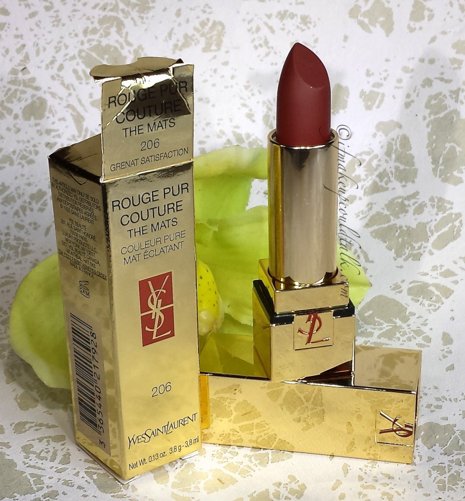 YSL Rouge Pur Couture The Mats 206 Grenant Satisfaction.