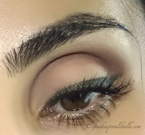 Wearing Make Up Forever Artist Shadows M-510 with M-600.