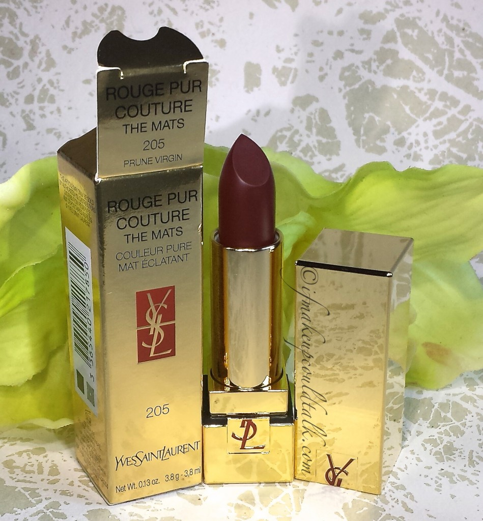 YSL Rouge Pur Couture The Mats 205 Prune Virgin.