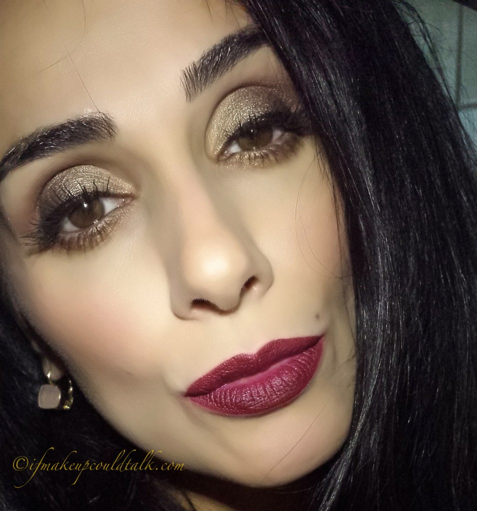 Wearing YSL Rouge Pur Couture The Mats 205 Prune Virgin.
