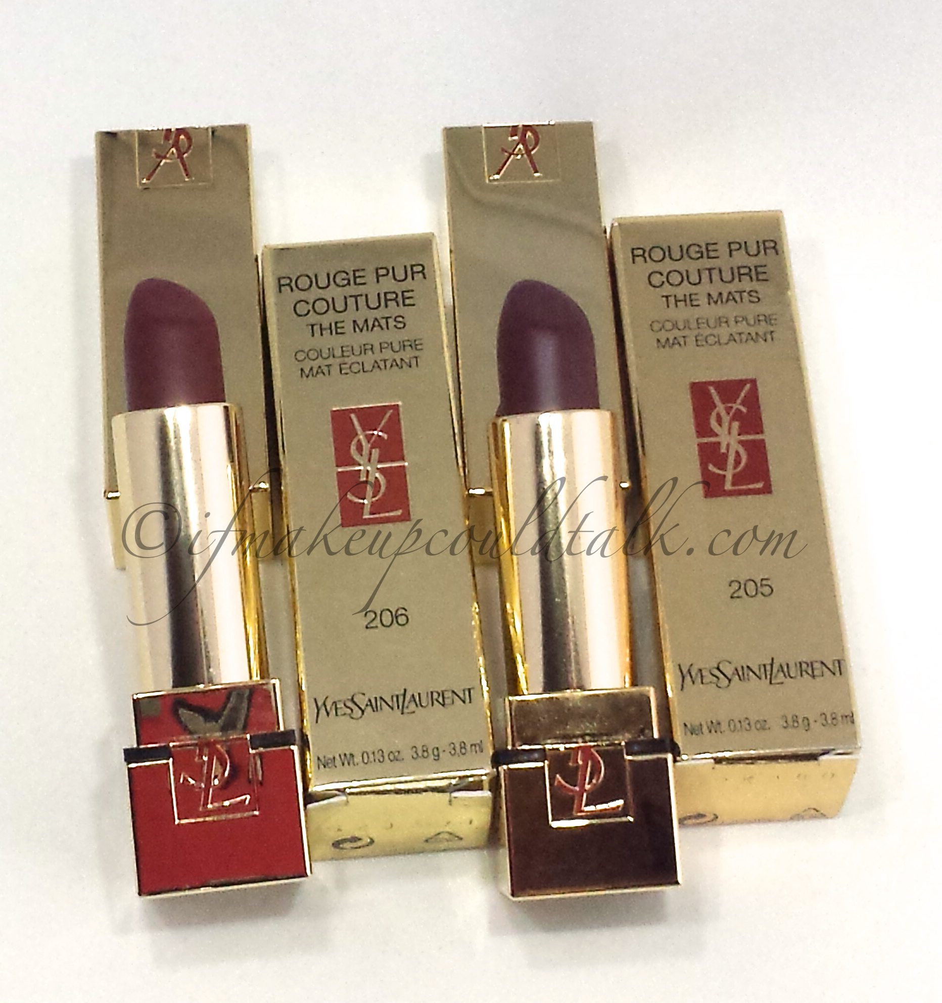 Ysl Rouge Pur Couture The Mats 206 And 205 Review And