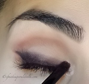 Make Up For Ever Artist Shadow I-524 applied to the inner corner of the eye.