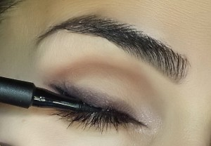 Prestige Line & Style Ink Pen applied to the very base of the upper lash line.