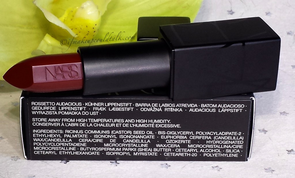 Ingredient List for Nars Audacious Lipstick in Charlotte.