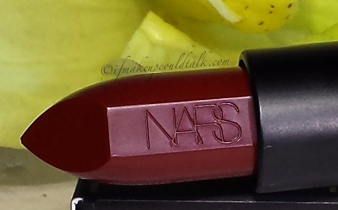 Nars Audacious Lipstick in Charolotte.