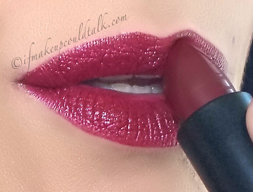 Nars Audacious Lipstick in Charlotte lip swatch.