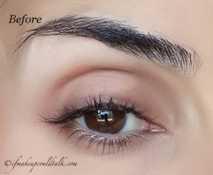 Before: Eye and brow without any makeup.