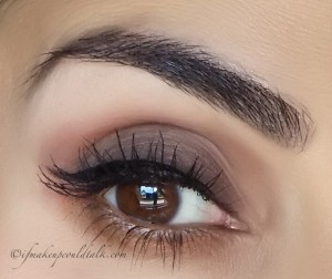 Giorgio Armani Eye and Brow Maestro 2 Wenge Wood used on the brows and as an all over lid eyeshadow.