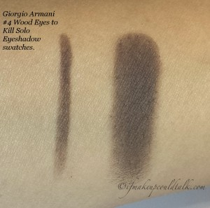 Giorgio Armani #4 Wood Eyes to Kill Solo Eyeshadow swatches.