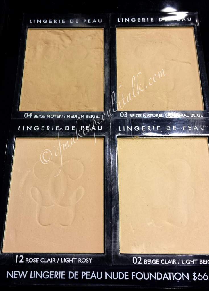 Guerlain Lingerie De Peau Nude Powder Foundation L-R: 03 Beige Naturel and 04 Beige Moyen.