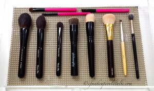 Best of Beauty 2014 Brushes: Chikuhodo Z-8, Z-4, Z-5 Philosophy Supernatural Airbrush Brush, Wayne Goss Brush 01, Tom Ford Cream Foundation Brush, Billy B #12, Laura Mercier Dual Fiber Eyeshadow, Memebox Eye Brushes.