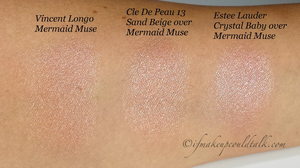Vincent Longo Mermaid Muse Water Canvas Highlighter used as a base.