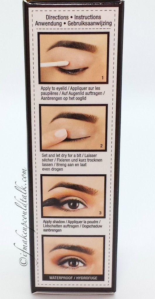 NYX Proof-It directions.