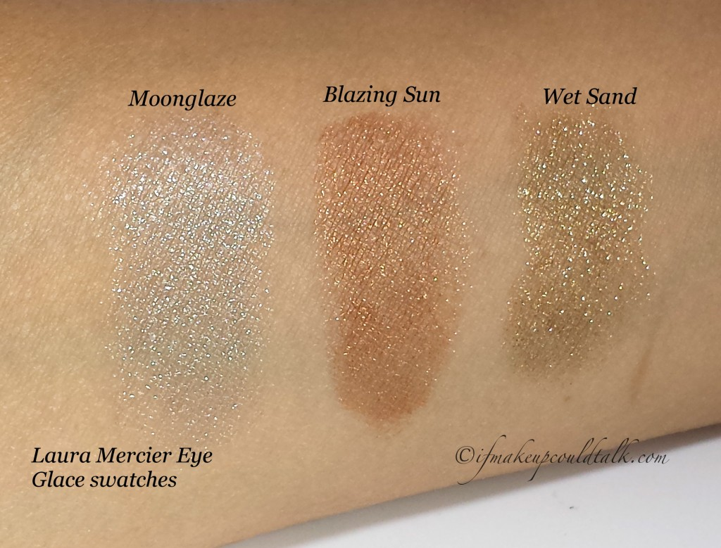 Laura Mercier Eye Glace swatches.