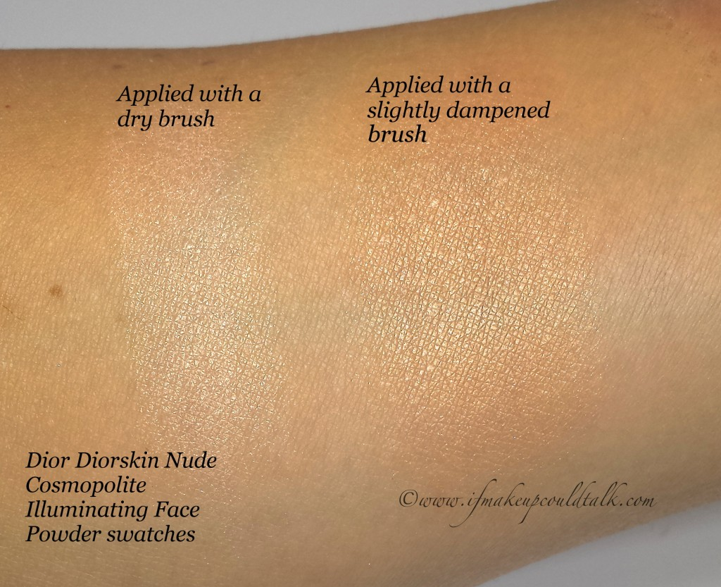 Dior Cosmopolite Illuminating Powder swatch.