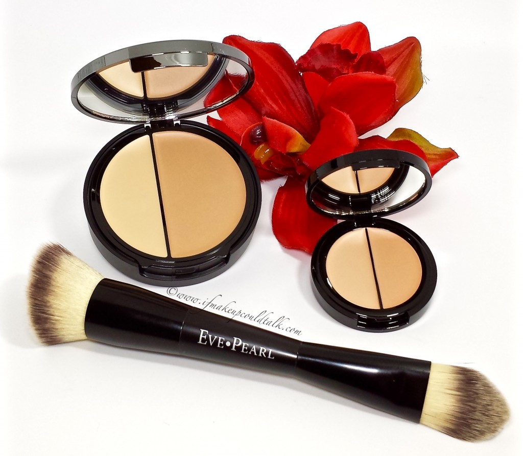 Eve Pearl Medium Hd Dual Foundation, Salmon Concealer and 201 Brush.