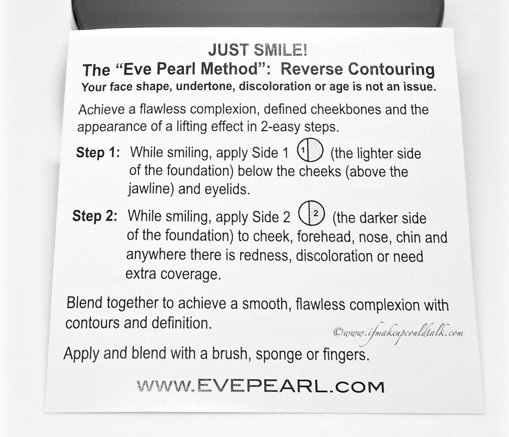 Eve Pearl Medium Hd Dual Foundation instructions.