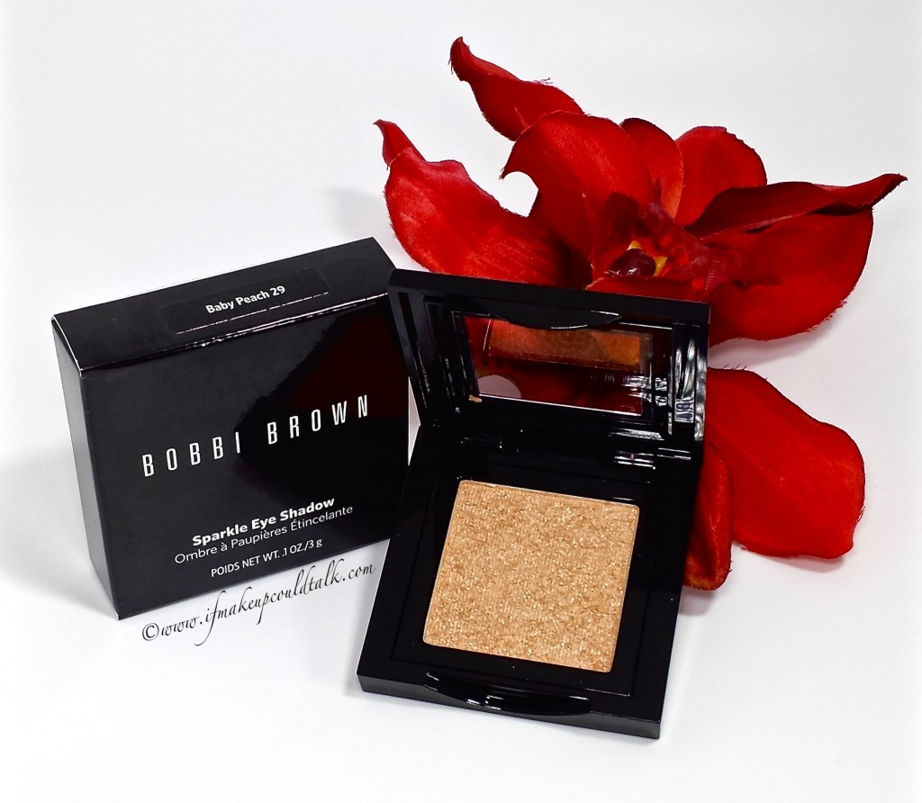 Bobbi Brown Baby Peach Sparkle Eye Shadow.