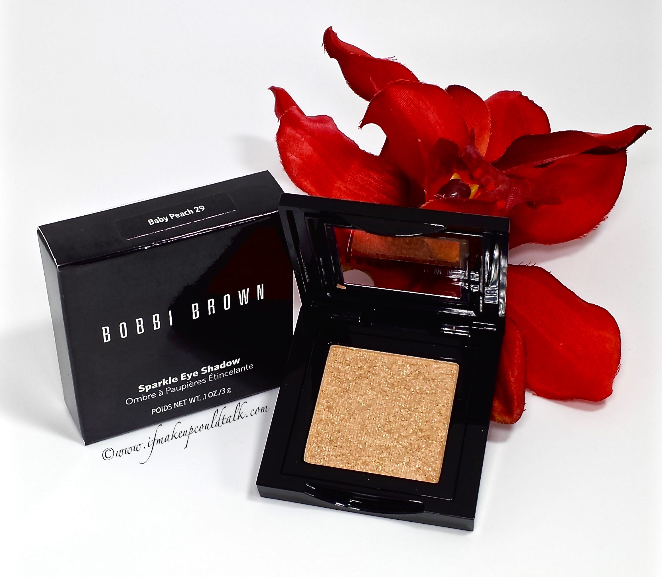 Bobbi Brown Baby Peach Sparkle Eye Shadow Review And