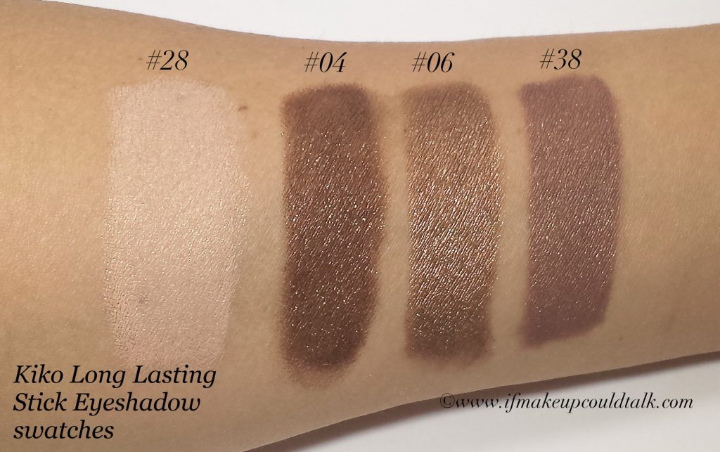 Kiko Long Lasting Stick Eyeshadow Review Swatches And