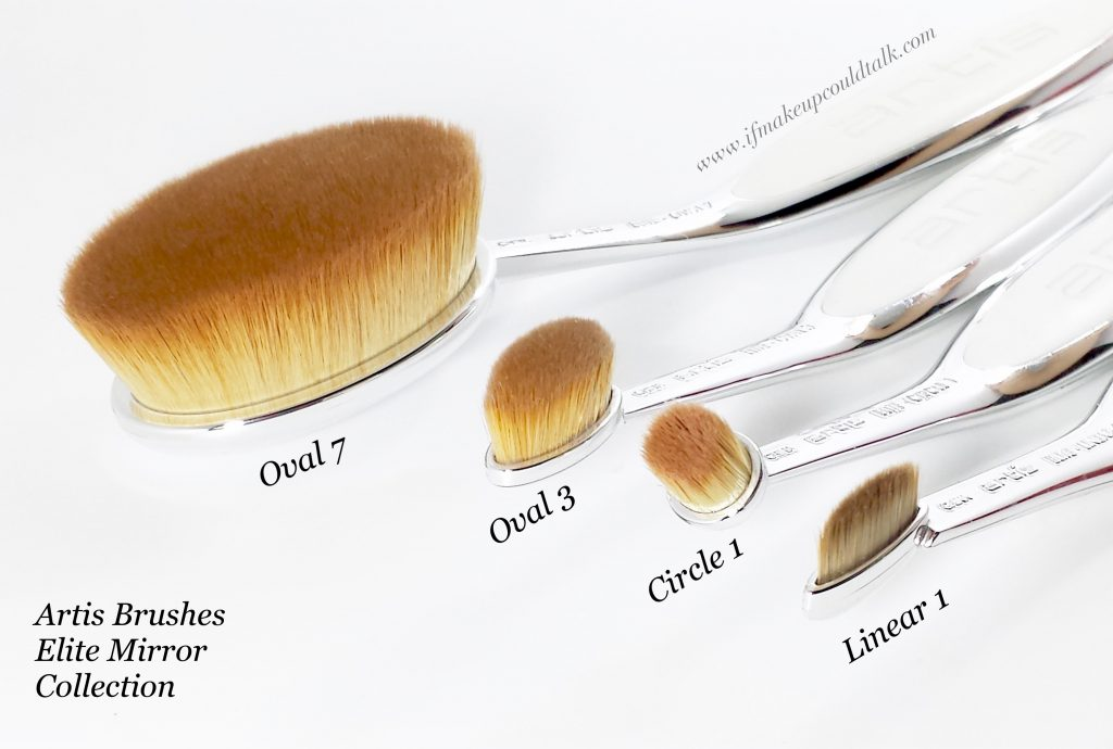 Artis Brushes: Oval 7, Oval 3, Circle 1, Linear 1.