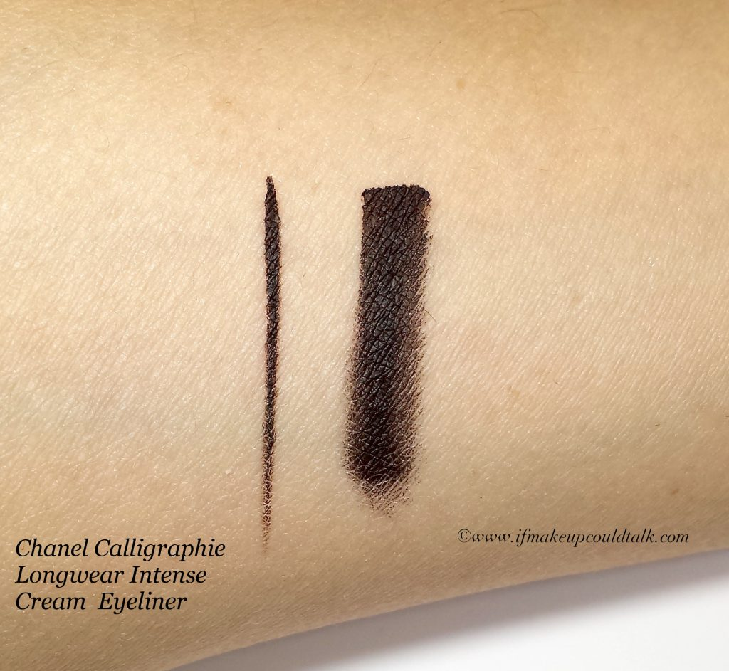 Chanel cream eyeliner swatch