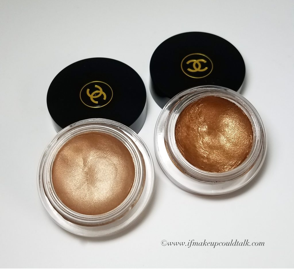 Chanel Ombre Premiere Longwear Cream Eyeshadows 802 Undertone and 806 Terre Brûlée.