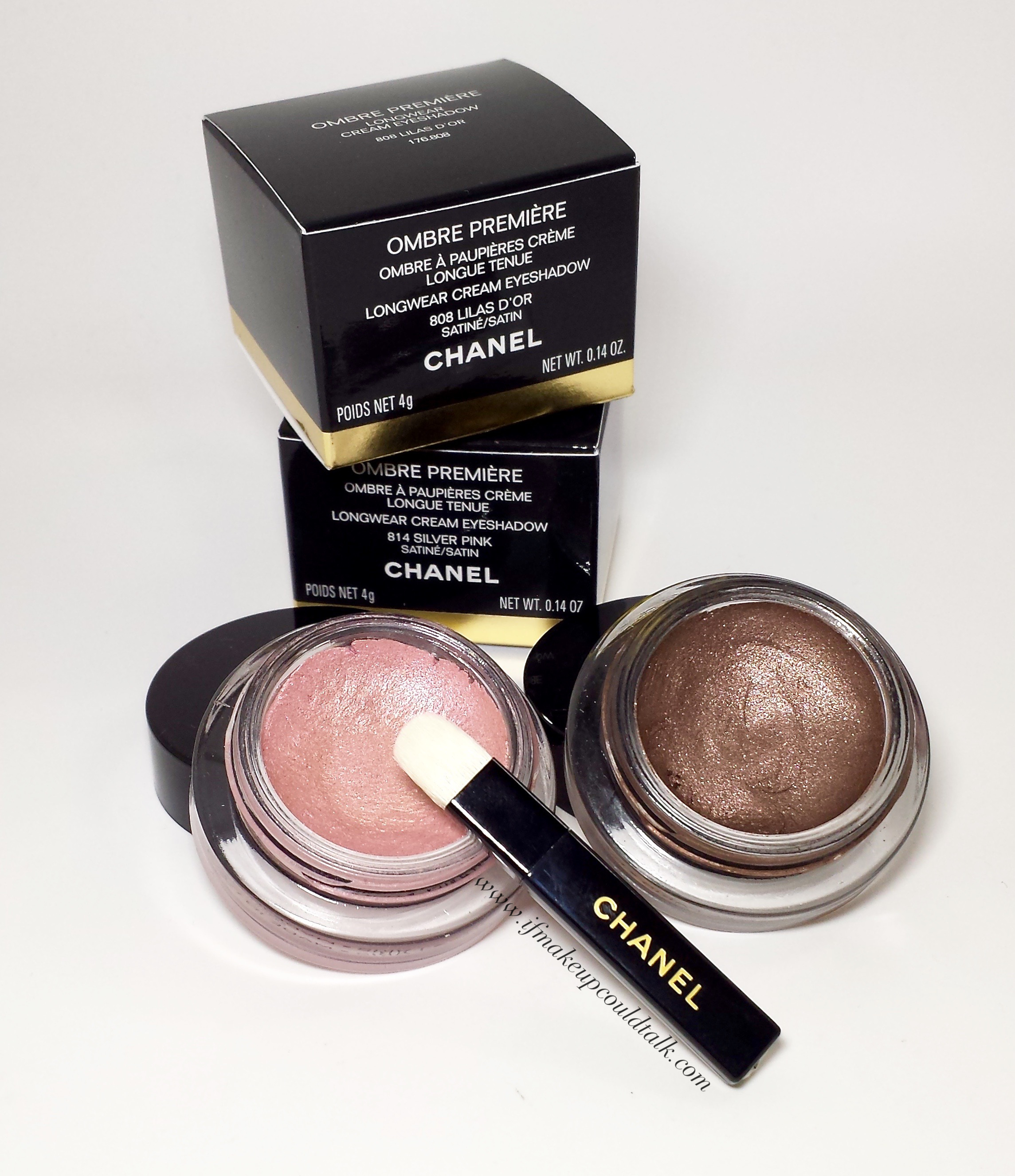 Chanel 808 Lilas D'Or and 814 Silver Pink.