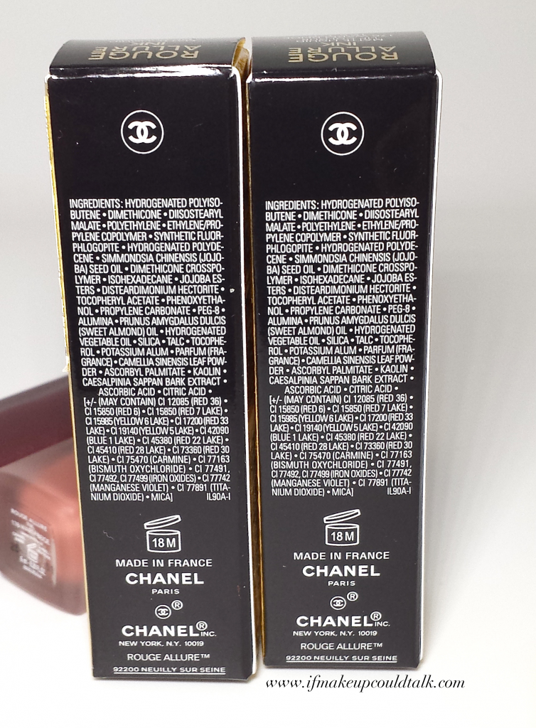Chanel Rouge Allure Ink ingredient list